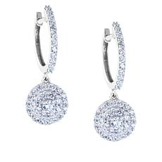 "Robert Manse ""CZ RoManse"" Cubic Zirconia Huggie Hoop Drop Earrings"