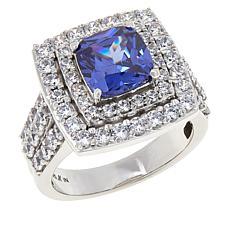 "Robert Manse ""CZ RoManse"" Cushion-Cut Halo Engagement Ring"