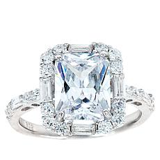 "Robert Manse ""CZ RoManse"" Radiant-Cut Solitaire Ring"