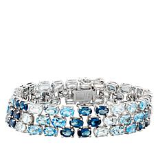 "Robert Manse ""Gem RoManse"" Shades of Blue Topaz Bracelet"