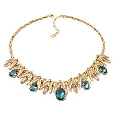Roberto by RFM Multicolor Stone Leaf-Design Necklace