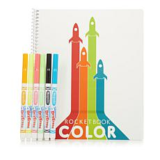 Rocketbook Color Notebook with 6-pack Markers