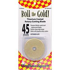 Roll The Gold! Titanium Coated Rotary Cutting Blade