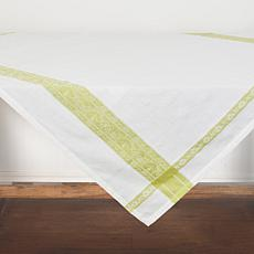 Rose Trellis Jacquard Peridot Table Topper