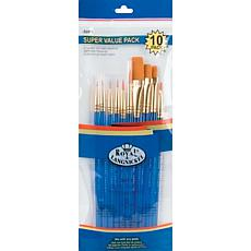 Royal Langnickel Gold Taklon 10-piece Brush Set