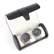 Royce Leather Personalizable Double Watch Roll