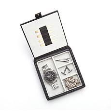 Royce Leather Personalizable Watch Cufflink Box