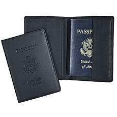 Royce Leather RFID Plain Passport Jacket with US Seal