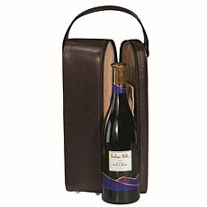 ROYCE Personalized Luxury Suede-Lined Single Wine Case
