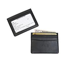 Royce Personalized Slim Credit Card ID Wallet