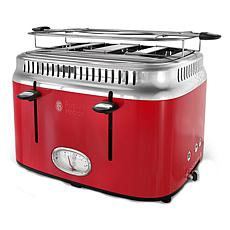 Russell Hobbs Retro-Style 4-Slice Toaster - Red