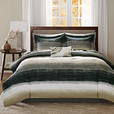 Saben King 9-piece Complete Bed and Sheet Set - Taupe