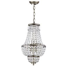 "Safavieh Amoret 4 Light Brass 12"" Adjustable Beaded Chandelier"