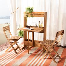 Safavieh Barley Flower Shelf 3-piece Bistro Set