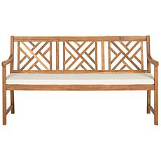 Safavieh Bradbury 3-Seat Bench - Teak Brown Finish
