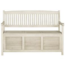 Safavieh Brisbane Storage Bench - Ash Gray  Finish