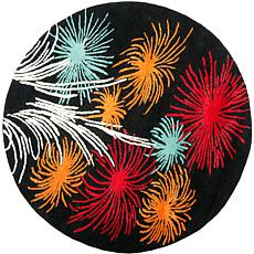 Safavieh Celebration Black-Multi 6' Round Rug