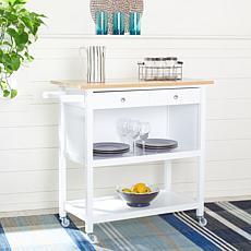 Safavieh Cohyn 2-Drawer 3-Shelf Kitchen Cart