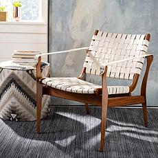 Safavieh Couture Dilan Leather Safari Chair