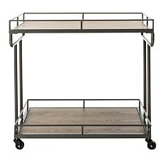 Safavieh Dawson 2-Tier Charcoal Rectangular Bar Cart