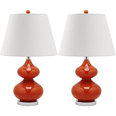 Safavieh Eva Double-Gourd Glass Lamp/Set of 2