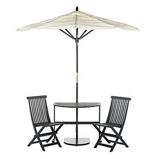 Safavieh Evert Half Patio Set and Umbrella
