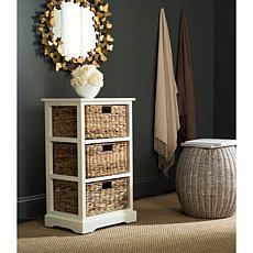 Elegant Safavieh Halle 3 Wicker Basket Storage Side Table