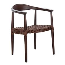 Safavieh Juneau Leather Woven Accent Chair