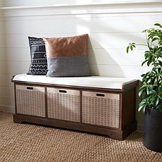 Safavieh Landers 3-Drawer Cushion Storage Bench