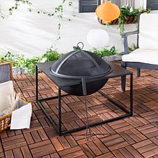Safavieh Leros Square Fire Pit with Screen