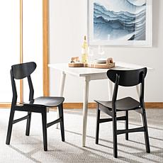 Safavieh Lucca Retro Black Dining Chair 2-pack