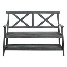 Safavieh Mayer Outdoor Bench with Shelf