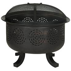 Safavieh Negril Fire Pit with Screen, Grate and Poker
