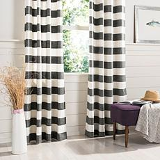 "Safavieh Rafina Window Panel - Gray/White Stripe - 52"" x 84"""