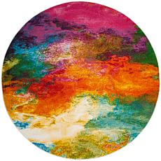 "Safavieh Watercolor Bree Rug - 6'7"" x 6'7"" Round"