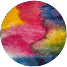 "Safavieh Watercolor Jaya Rug - 6'7"" x 6'7"" Round"
