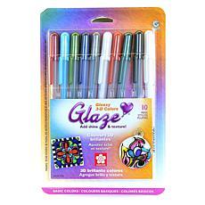 SAKURA Gelly Roll Glaze Pens Basic Assorted Colors 10-Pack