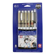 Sakura Manga-Comic Pro Sketching & Inking Set of 6