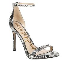 Sam Edelman Ariella Snake-Embossed Leather Pump