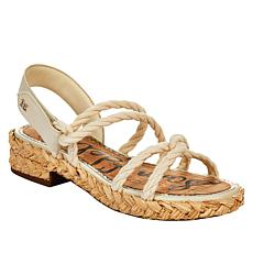 Sam Edelman Cristan Strappy Rope and Leather Slingback Sandal
