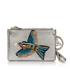 Sam Edelman Embroidered Bird Credit Card Wallet