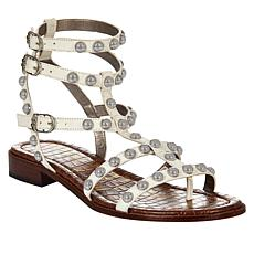 Sam Edelman Strappy Eavan Leather Sandal - White