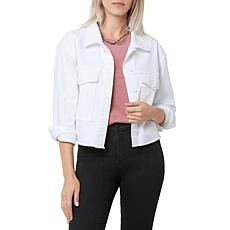 Sam Edelman The Aimmee Denim Cropped Jacket