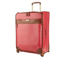 "Samantha Brown 26"" Spinner Croco Embossed Suitcase"