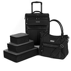 6e89f1bff277 Samantha Brown 5pc Luggage Set with Spinner, Tote and Packing Cubes