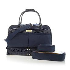 Samantha Brown Drop Bottom Satchel w/2 Zippered Cubes