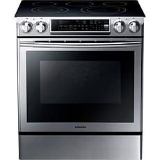 Samsung 30 In. Electric Slide-In Range  Stainless Steel