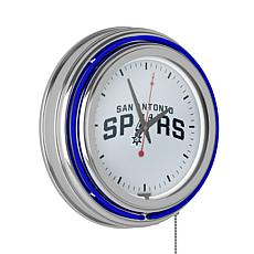 San Antonio Spurs Double Ring Neon Clock