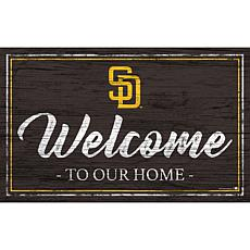 San Diego Padres Team Color Welcome Sign - 11x19""