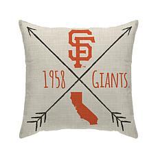 "San Francisco Giants 18""X18"" Duck Cloth  Décor Pillow"